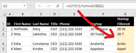 Excel LEN